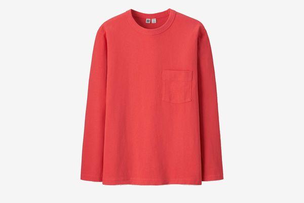 Uniqlo U Men's Crewneck Long-Sleeve T-shirt