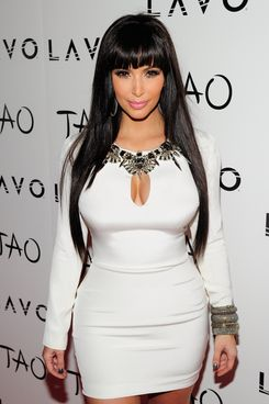 Television personality Kim Kardashian arrives to host a New Year's Eve party at the Tao Nightclub at the Venetian on December 31, 2011 in Las Vegas, Nevada.
