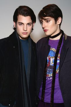 The Brant Brothers makeup.