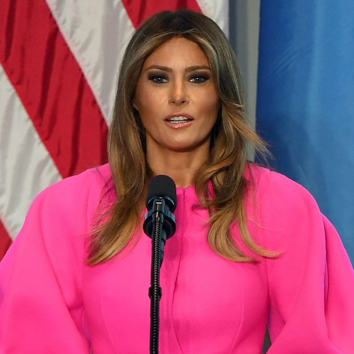 The Strange Experience of Watching Melania Trump Speak