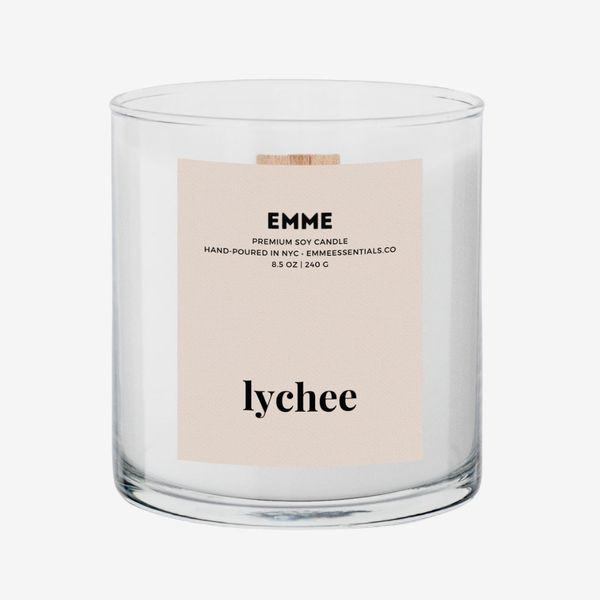 Emme Essentials Lychee Wood Wick Candle