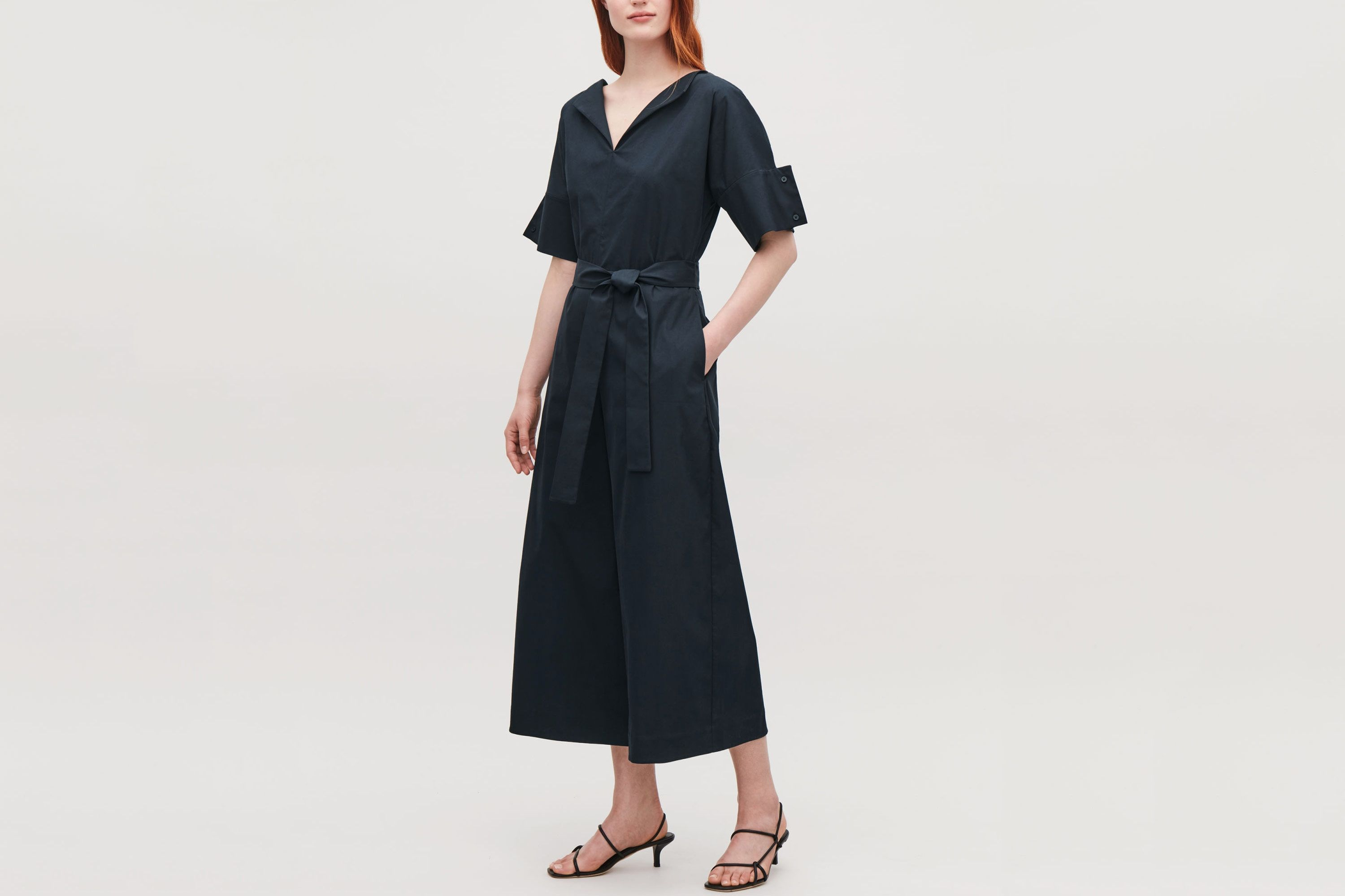COS Belted Jumpsuit With Sleeve Detail