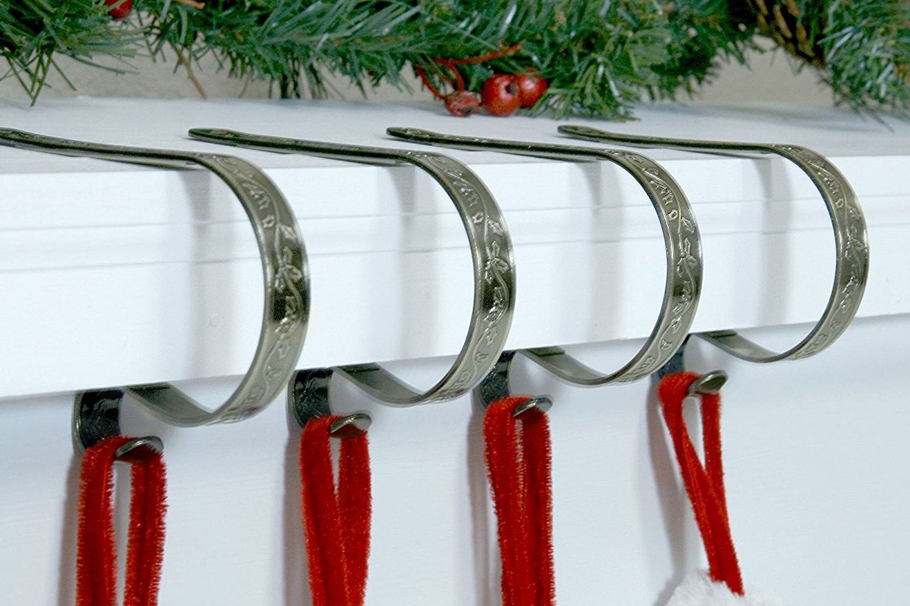 Stocking holders crafted winter stocking diy knob for Mantle holders