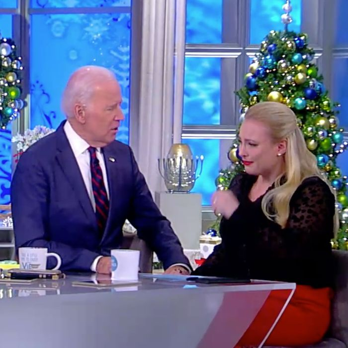 Joe Biden Consoles Meghan McCain Over John's Cancer Battle
