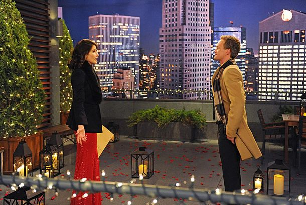 """The Final Page, Part One And Two"" --  With Christmas fast approaching, Barney (Neil Patrick Harris, right) tells Ted that he plans on proposing to Patrice, which leads Ted to debate whether or not to tell Robin (Cobie Smulders, left), on a special one-hour episode of HOW I MET YOUR MOTHER, Monday, Dec. 17 (8:00-9:00 PM, ET/PT) on the CBS Television Network. Photo: Ron P. Jaffe/Fox ©2012 Fox Television. All Rights Reserved."