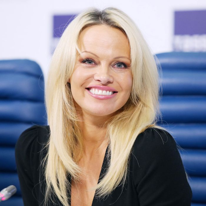 Pamela Anderson isn't stressing about aging.