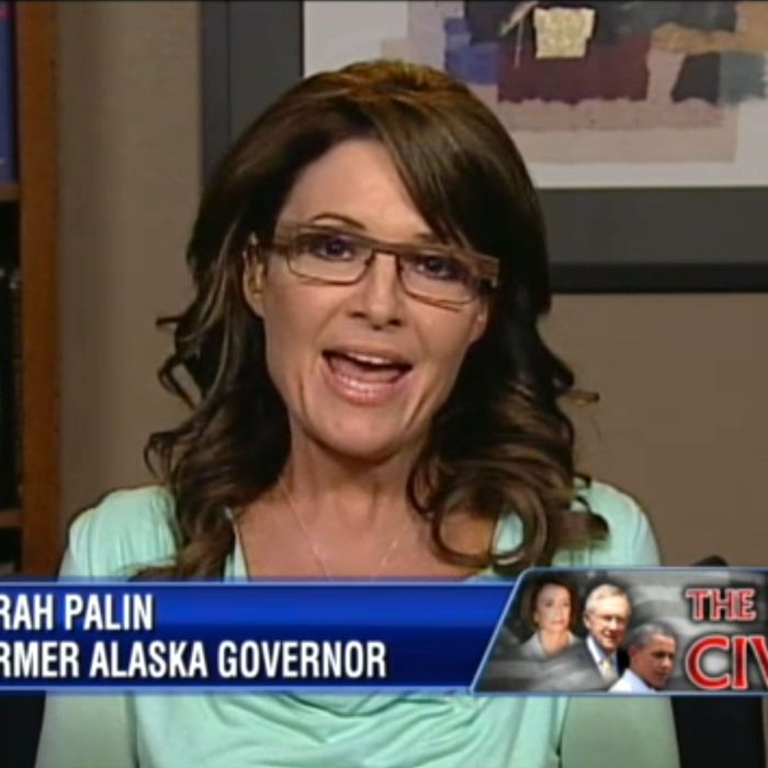 361106f9c7 Sarah Palin Did Not Wear Her Sarah Palin Glasses Last Night