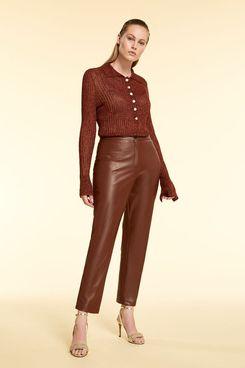 Marina Rinaldi Nappa-Look Trousers