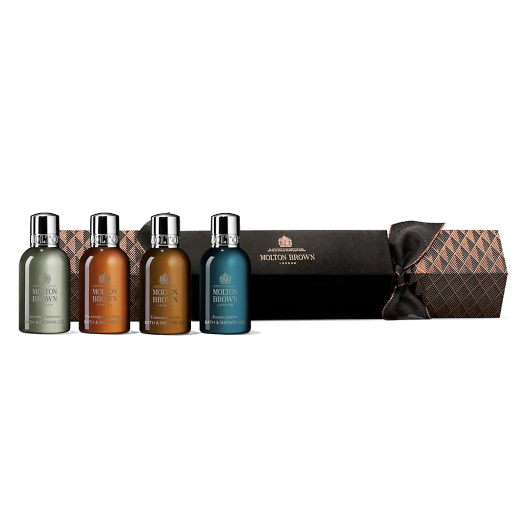 Molton Brown Aromatic & Woody Christmas Cracker 4-Piece Bath & Shower Gel Set