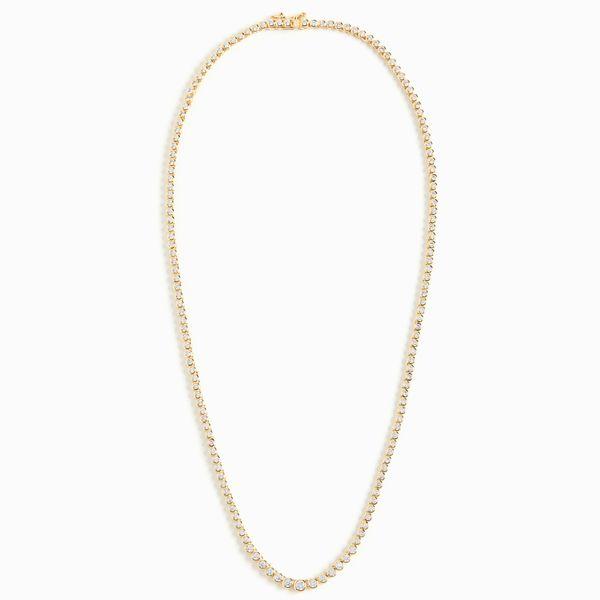Luv Aj Ballier Gold Bezel Tennis Necklace