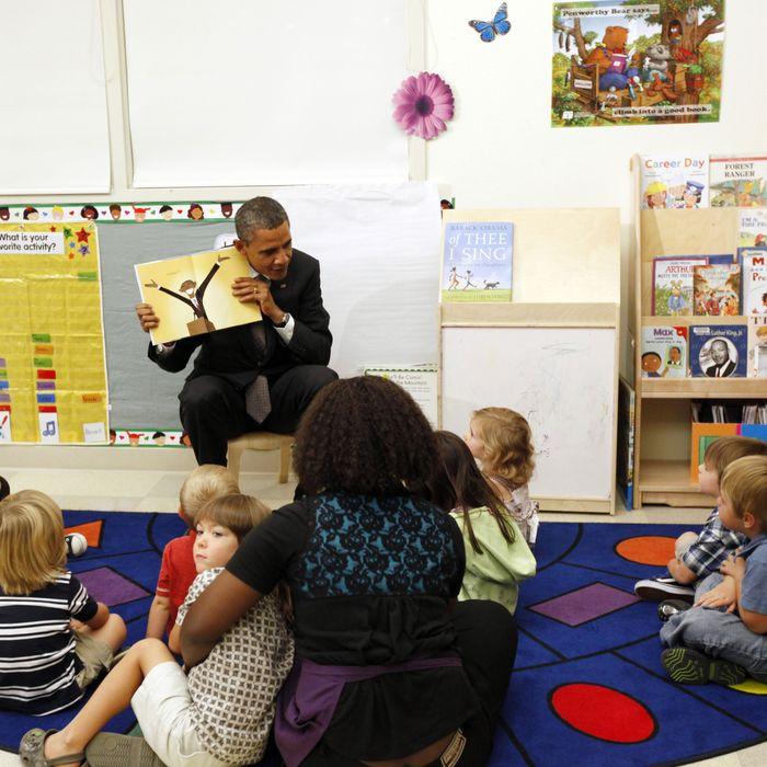 President Barack Obama shows