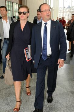 Trierweiler and Hollande.