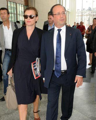 Trierweiler and Hollande.