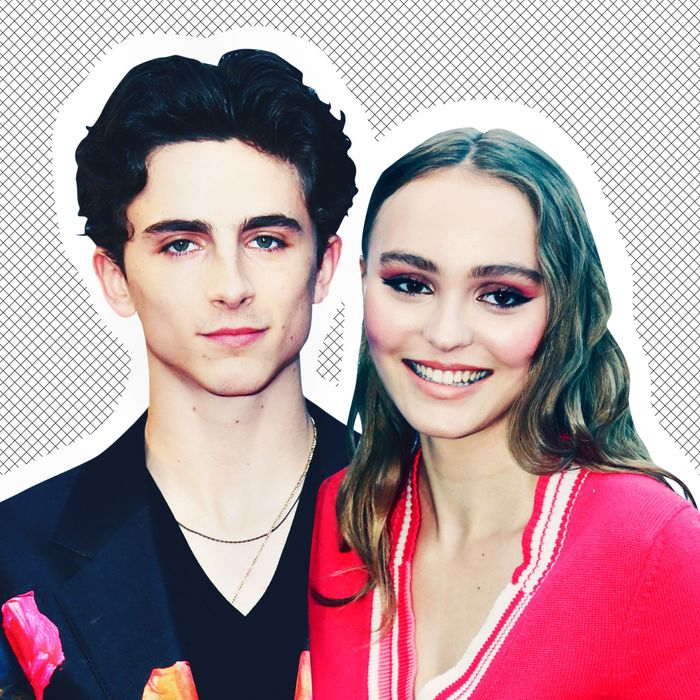 Timothee Chalamet and Lily Rose Depp.