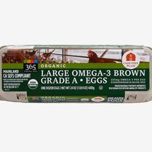 365 Everyday Value, Organic Large Omega-3 Brown Grade-A Eggs