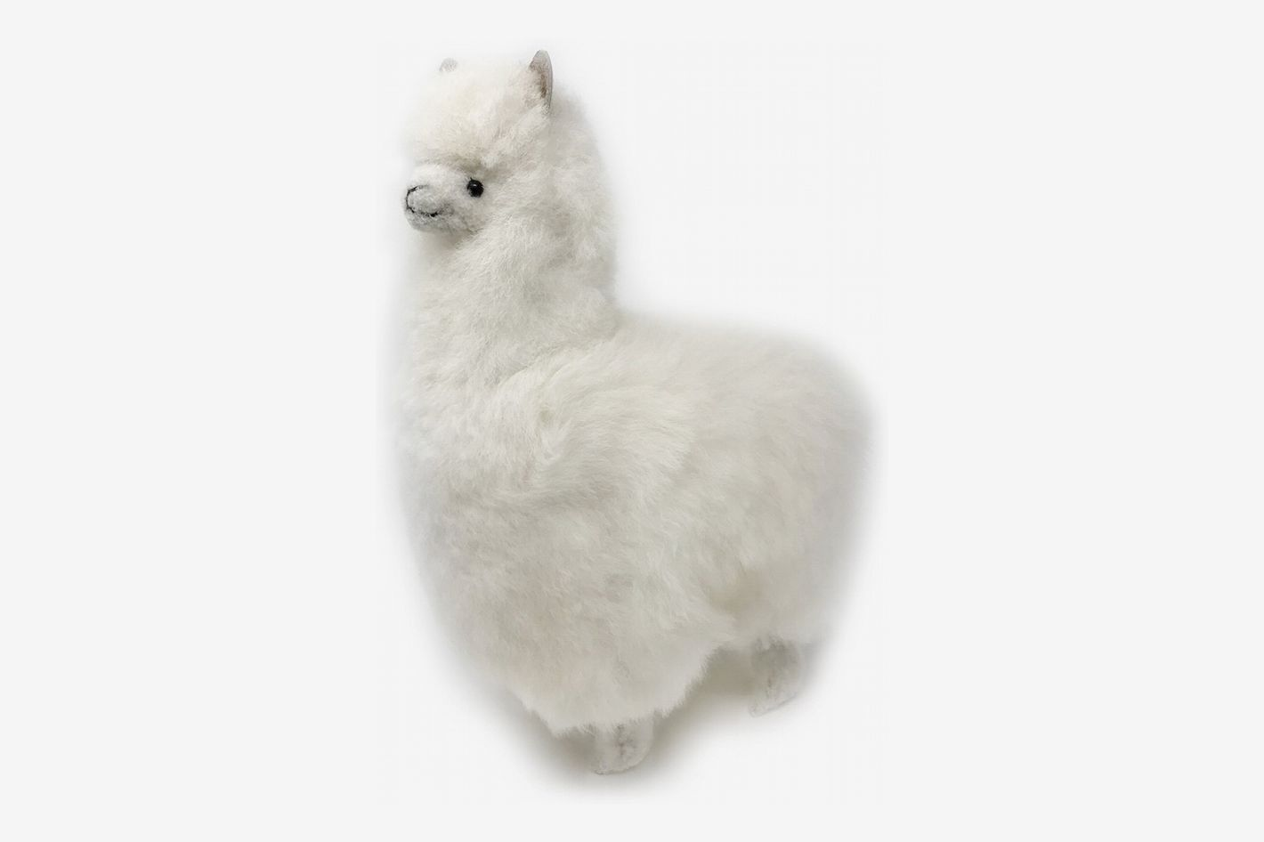 Standing Alpaca Fur Figure