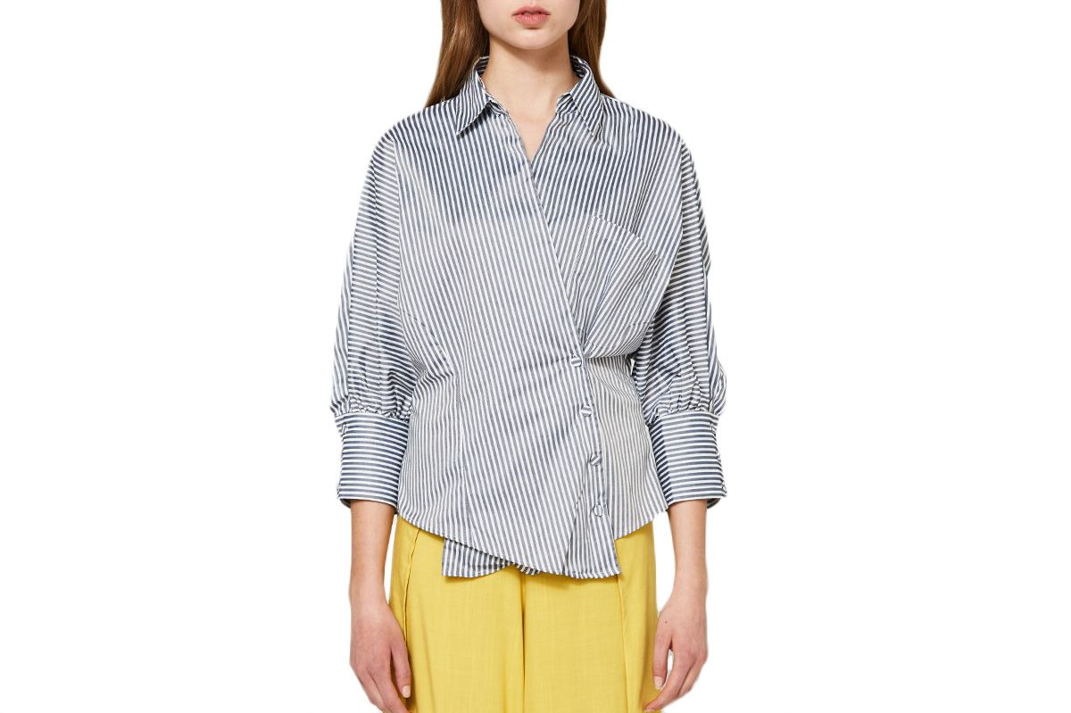Farrow Striped Overlap Shirt