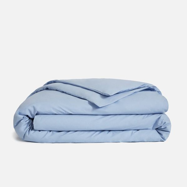 Brooklinen Classic Percale Duvet Cover in Sky Blue