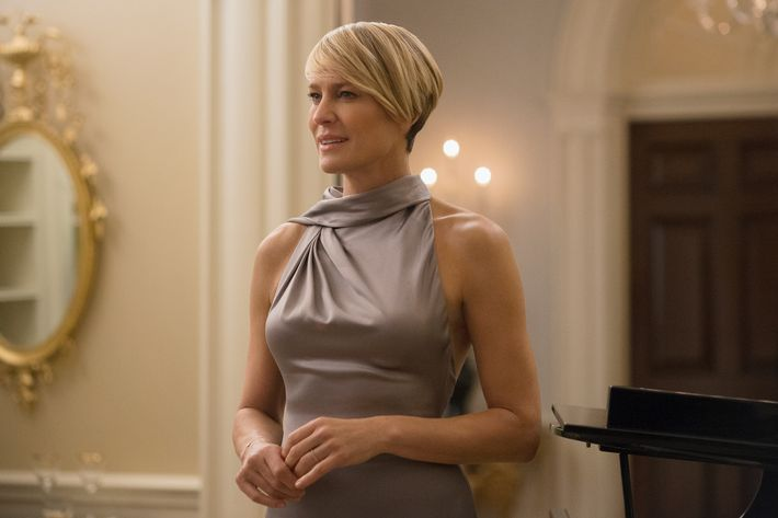 Robin Wright as Claire Underwood on <em>House of Cards</em>.