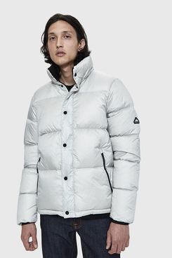 Penfield Equinox Puffer Coat in Silver Cloud