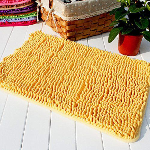 Hughapy Yellow Non Slip Microfiber Carpet