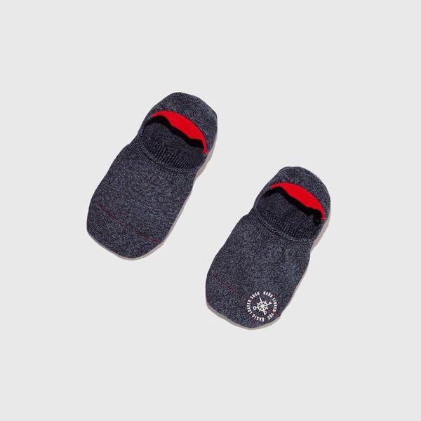 Mr. Gray Basic Melange Invisible Sock, Indigo