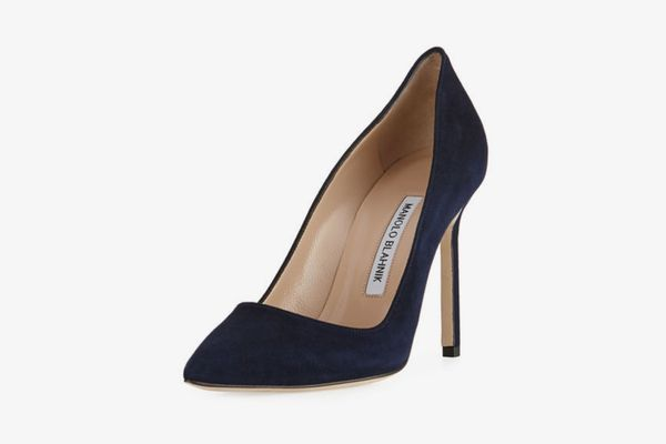 Manolo Blahnik BB 105mm Suede Pumps