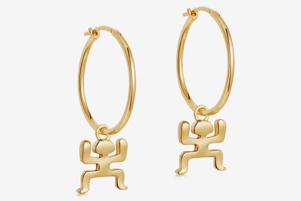 Gold Aurelio Charm Hoops