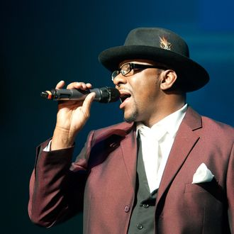 NEWARK, NJ - FEBRUARY 19: Bobby Brown performs at NJPAC Prudential Hall on February 19, 2012 in Newark, New Jersey. (Photo by Dave Kotinsky/Getty Images)
