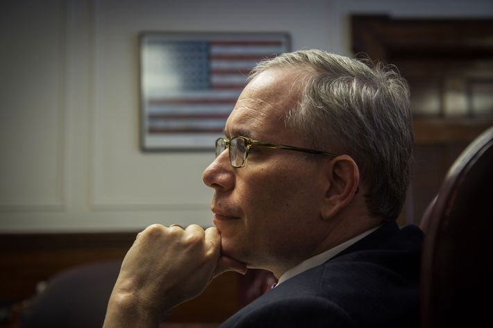 March 5, 2015 - Manhattan, New York, U.S. - New York City Comptroller SCOTT STRINGER hosts meeting with his staff, Thursday, March 5, 2015. (Credit Image: ? Bryan Smith/ZUMA Wire)