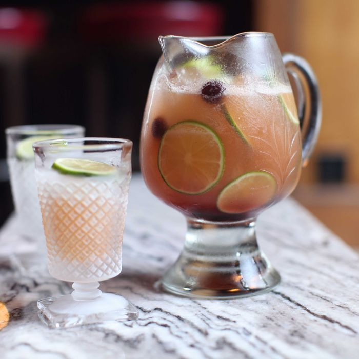 The Imperial Planter's Punch (for two): Trindad and Martinique rums, planters spices, fresh grapefruit, and lime juices.