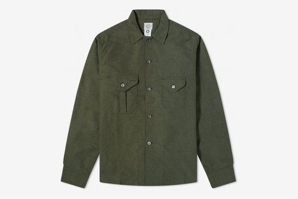Post Overalls Flannel E-Z Cruz Shirt Olive