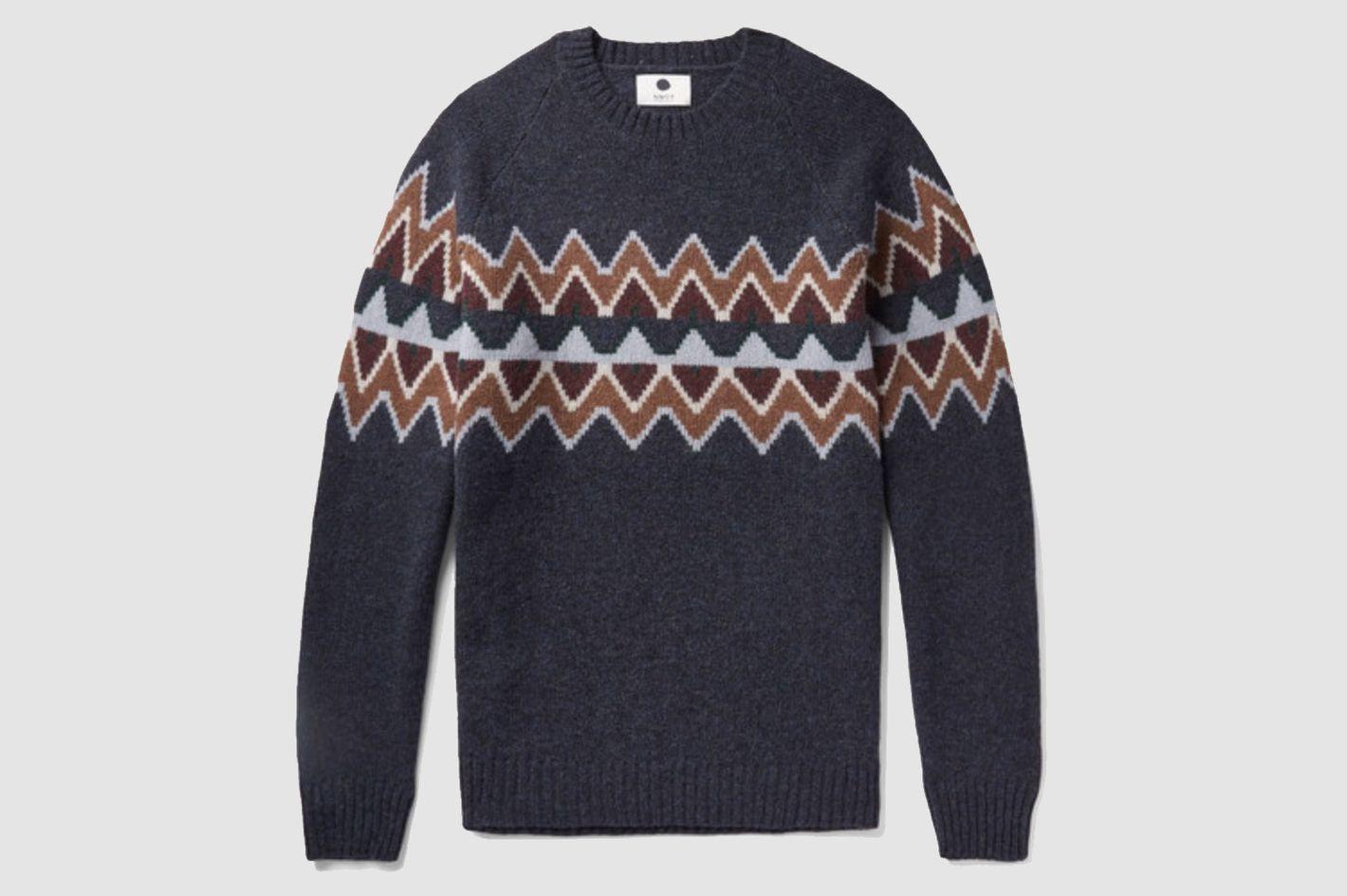 NN07 Fair Isle Wool-Blend Sweater