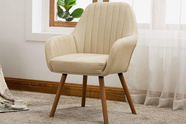 Roundhill Furniture Tuchico Contemporary Fabric Chair, Tan