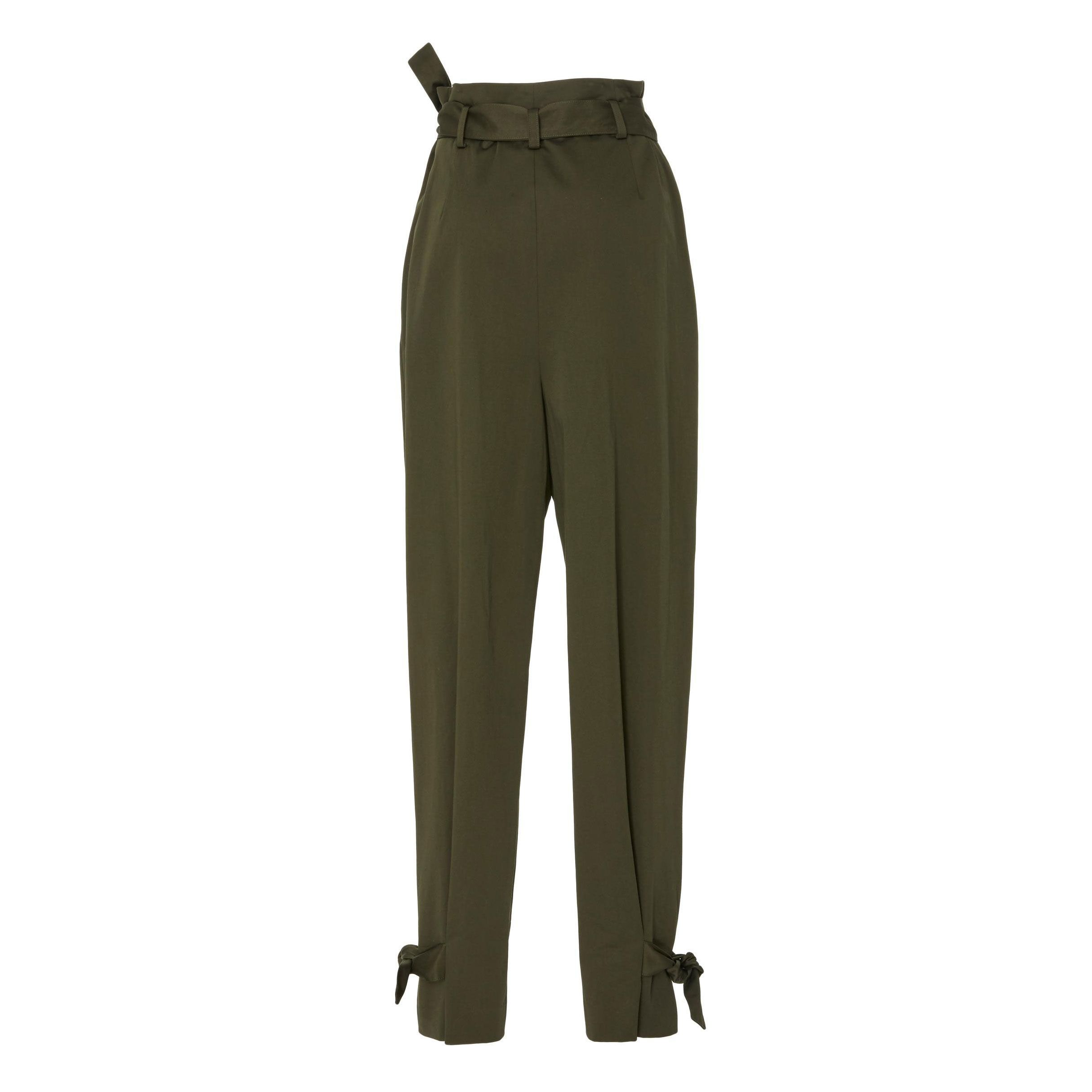 Rosetta Getty Knotted High Rise Trousers