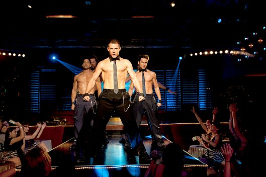 "(L-r) ADAM RODRIGUEZ as Tito, KEVIN NASH as Tarzan, CHANNING TATUM as Mike, and MATT BOMER as Ken in Warner Bros. Pictures' dramatic comedy ""MAGIC MIKE,"" a Warner Bros. Pictures release.Photo by Claudette Barius"