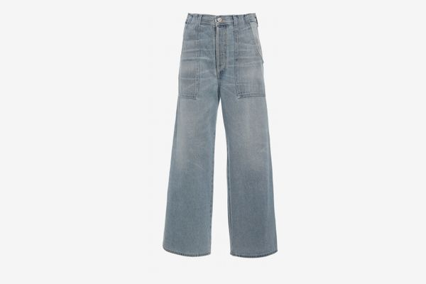 Citizens of Humanity Eva Cropped High-Rise Wide-Legged Jeans