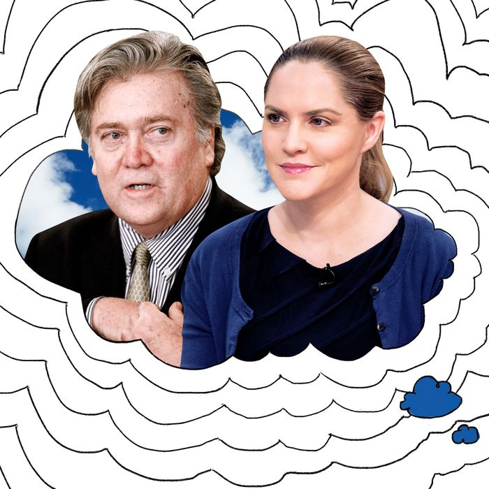 Steve Bannon and Louise Mensch.