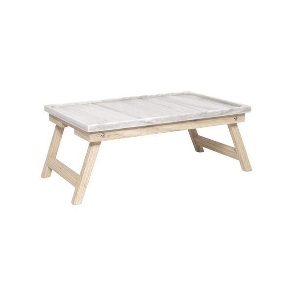 Marble Ash Wood Bed Tray