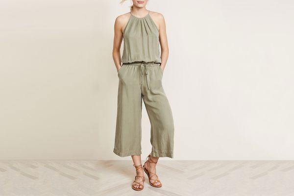 Bella Dahl Pleated Crop Leg Jumpsuit