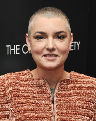 NEW YORK, NY - DECEMBER 13: Singer Sinead O'Connor attends the Giorgio Armani & Cinema Society screening of