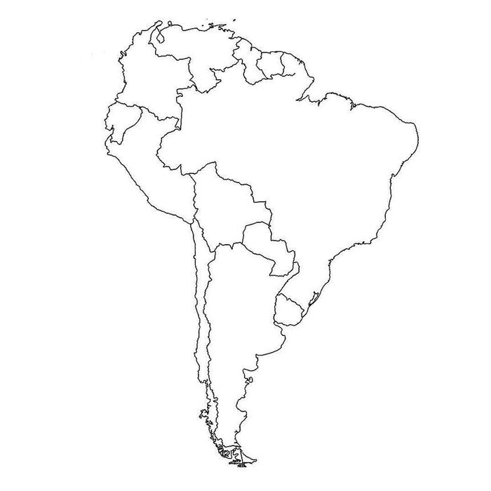 South America Map No Names.Why A Map Of South America Is Going Viral