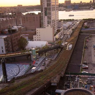 A general view of the end of the High Line by the Hudson River on October 6, 2011 in New York City.