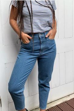 Levi's Indigo High-Waisted Mom Jeans