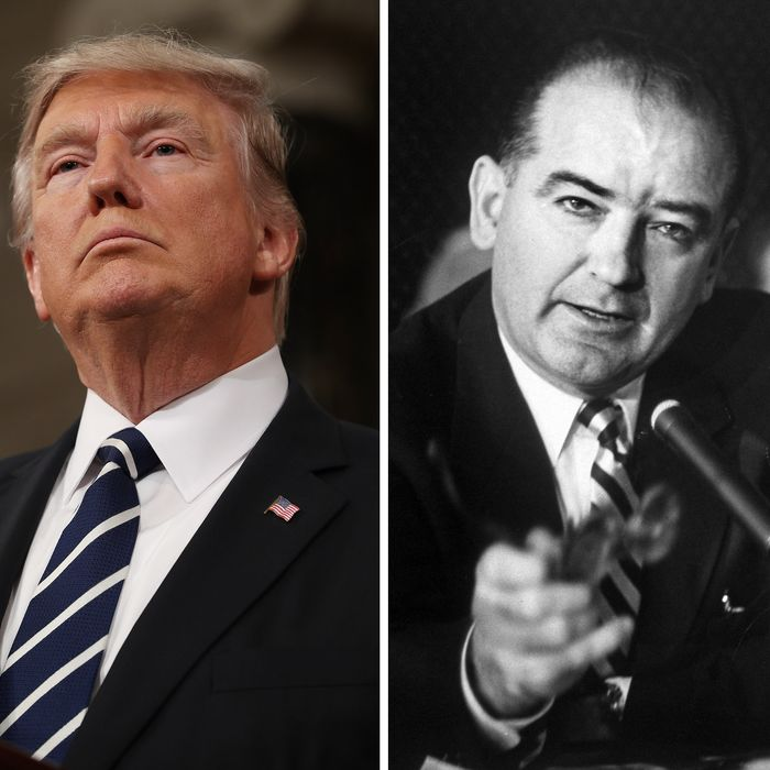 Image result for JOE MCCARTHY DONALD TRUMP