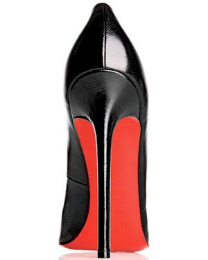 Christian Louboutin's red sole.