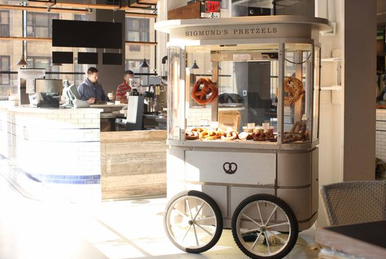 The Sigmund's Pretzels cart.