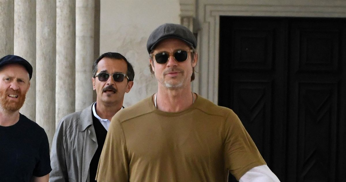 Brad Pitt Tests Out New Signature Look