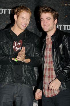 Kellan Lutz and Robert Pattinson.