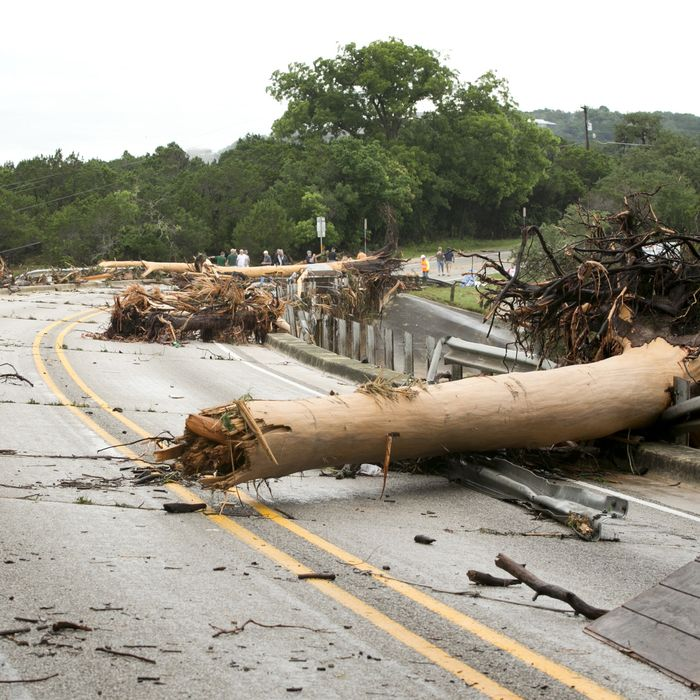 Damage from flooding in Texas